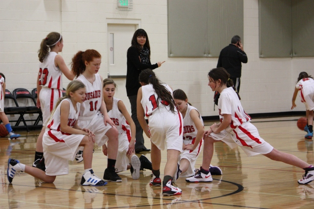 6th grade girls win a big game last night 25-18 over Catlin Gable!!!